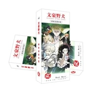 36 pcsset bungou stray dogs anime paper bookmark stationery bookmarks book holder message card gift stationery