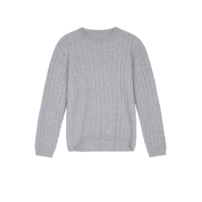 Womens Loose Fit Pullovers Sweater Long-Sleeve Crew Neck Office Lady Solid Color Breathable Knitted Jumper Tops enlarge