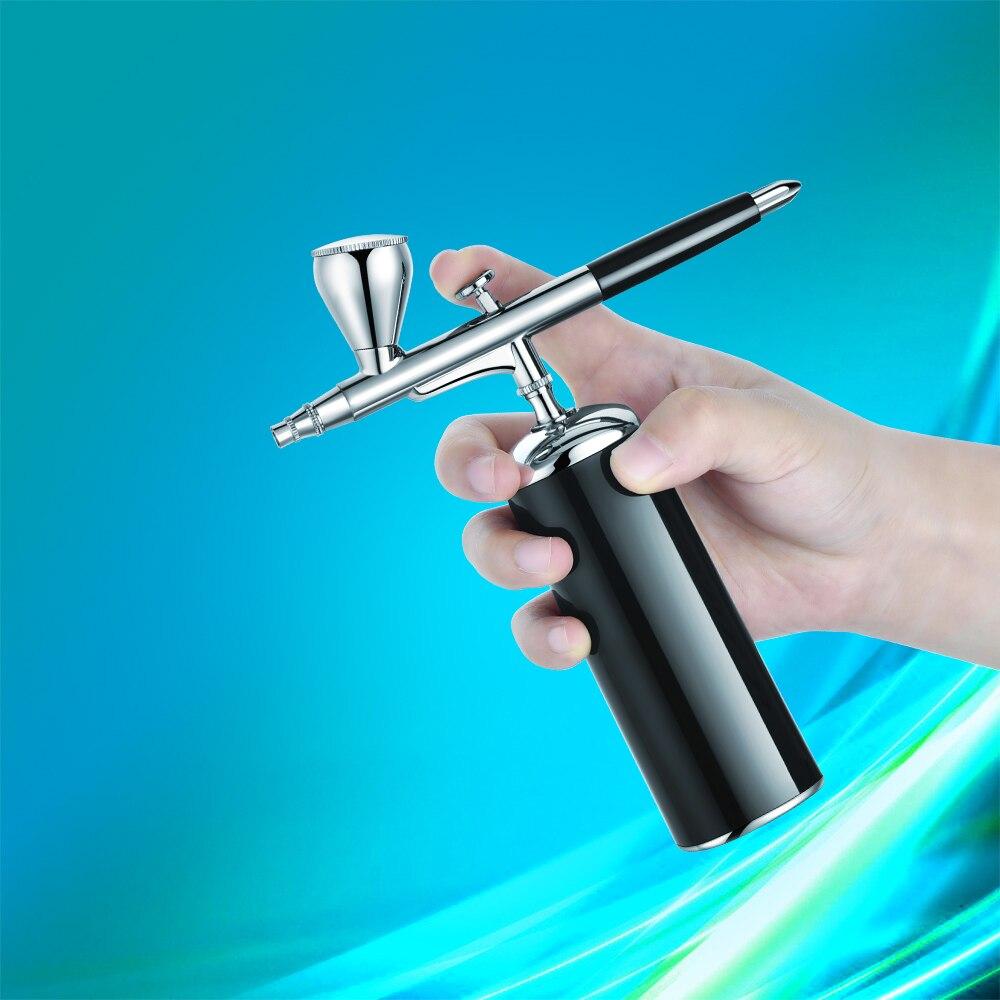مجموعة البخاخة للمكياج الاحترافي للوجه ، مسدس فرشاة الهواء ، قلم قابل لإعادة الشحن USB ، للبشرة ، والسبا ، والفن ، والأظافر ، والمانيكير المنز...