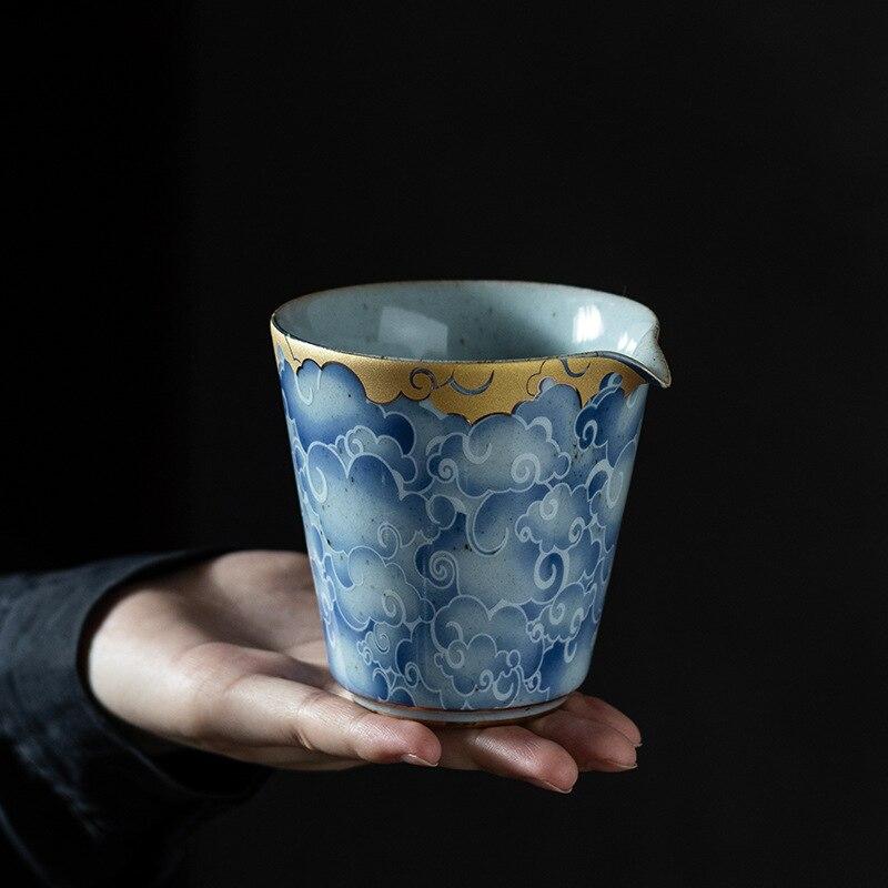 Qingyun Moon-إبريق شاي على الطراز الصيني ، كوب معرض كبير ، إبريق شاي سيراميك ، طقم شاي الكونغ فو ، فلتر شاي تشابي
