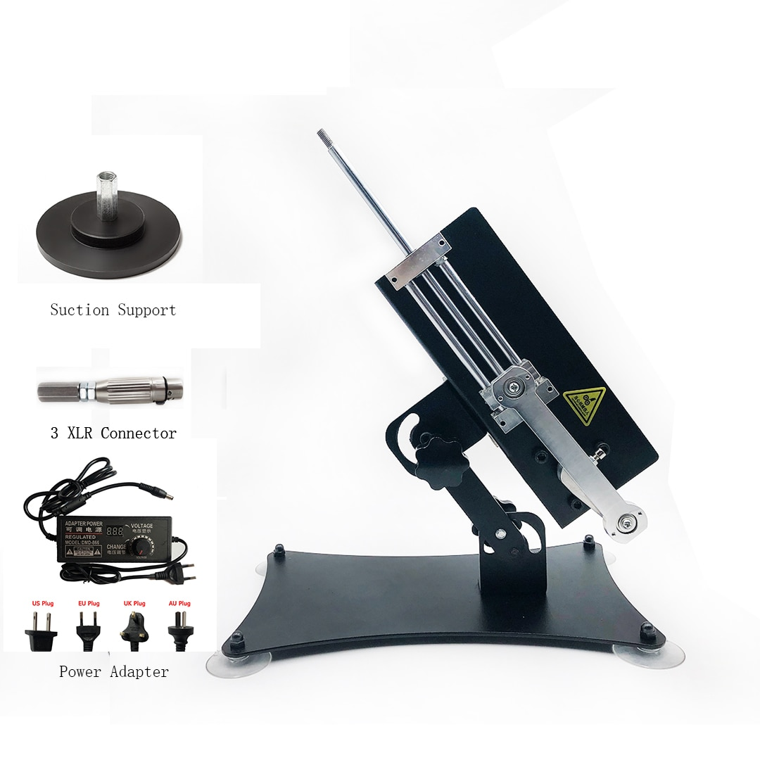 DIY Reciprocating Linear Actuator Low Noise Powerful Thrust Stroke 88mm with Metal Stands and Suction Cup Hold