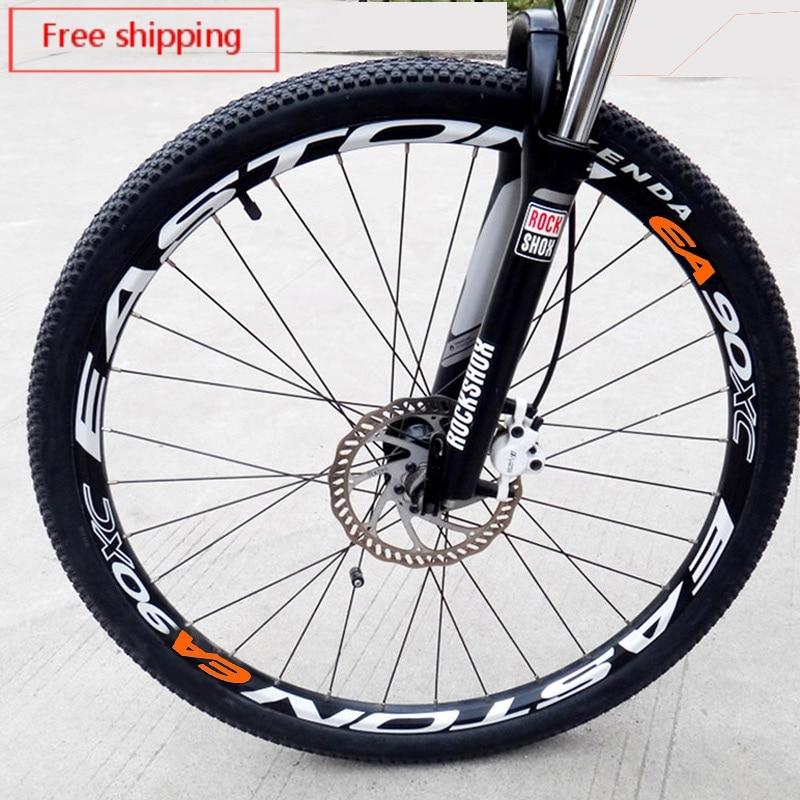 Pegatinas de ruedas para EA90XC MTB, accesorios para bicicletas, calcomanías para llanta de bicicleta de carretera, ciclismo de carrera, 8 uds, pegatinas de vinilo impermeables para ruedas de bicicleta