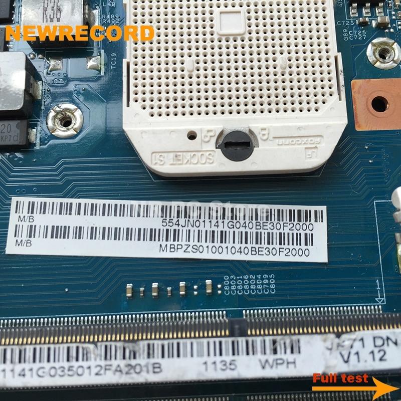 Купить с кэшбэком NEWRECORD MBPZS01001 48.4JN01.01M Laptop Motherboard For Acer aspire 7552 7552G MAIN BOARD HD5650M 1GB Socket S1 DDR3 free CPU