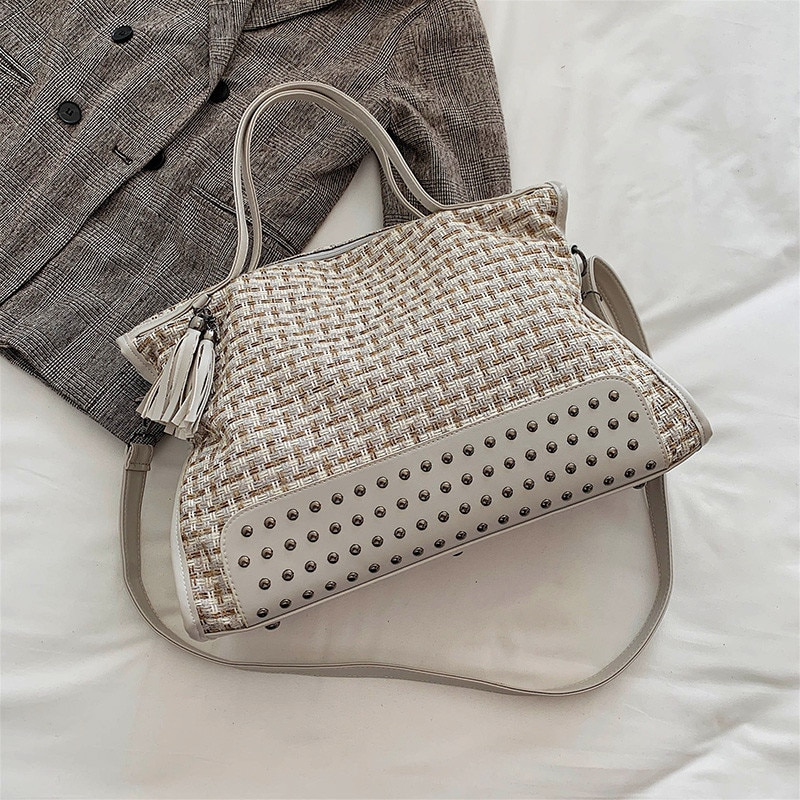 Scrub Leather Weave Crossbody Bags For Women Shoulder Messenger Bag Female pendant Luxury Handbags and Purses