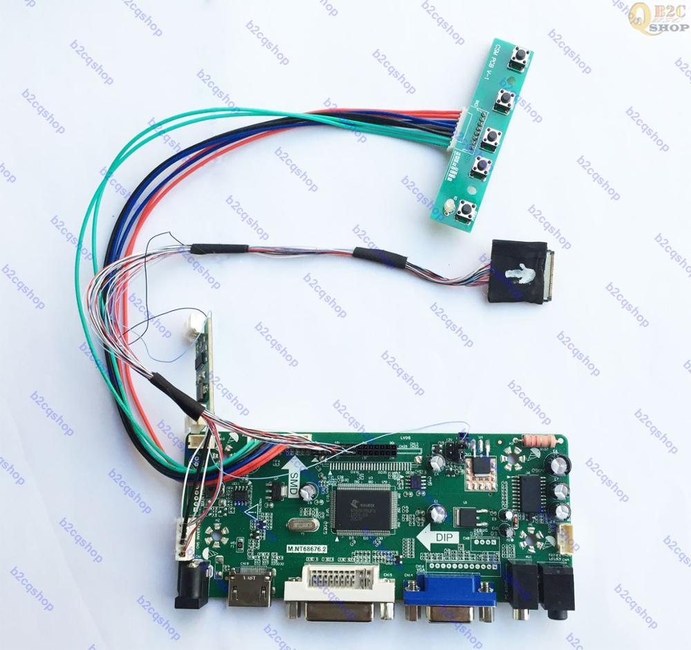 HDMI + DVI + VGA Kit de placa de controlador LCD LVDS, monitor Convertidor para pantalla de LTN121AT04-001 1280X800 LTN121AT04 001