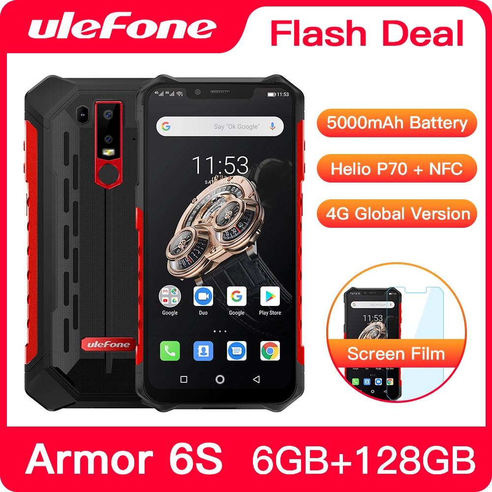 Перейти на Алиэкспресс и купить Cмартфон Ulefone Armor 6S с защитой от брызг, воды и пыли IP68, 8-ядерный процессор Helio P70, 6 ГБ + 128 ГБ, Android.