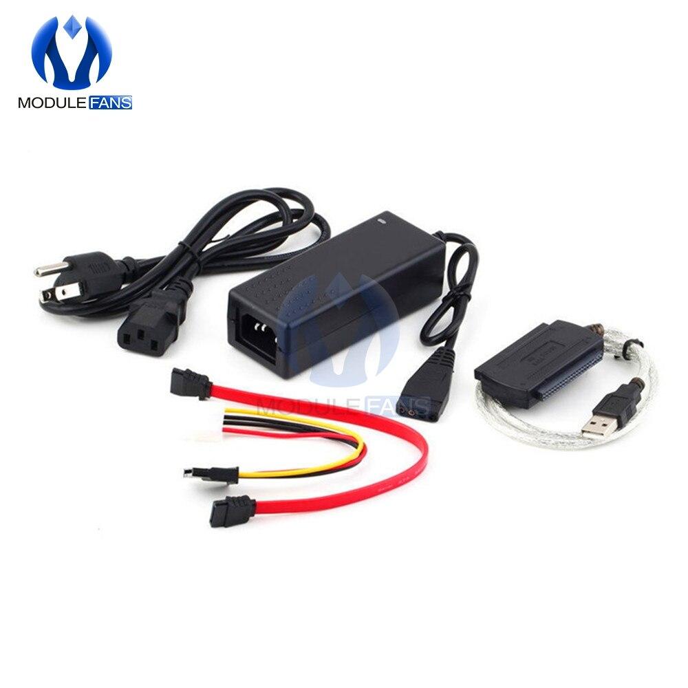 Adaptador de corriente transformador SATA/PATA/IDE a USB 2,0, Cable de datos para...