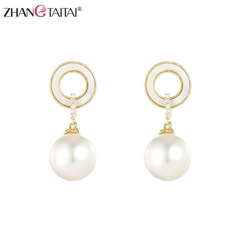 Gran oferta pendientes de perlas naturales para mujer de agua dulce AAA accesorios de aretes de perlas pendientes de joyería para regalo de boda Wemen