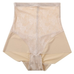 Europe And The United States Body Shaping No Trace High Waist Breathable Thin Body Solid Color Spun Gas Shaping Ladies Underwear