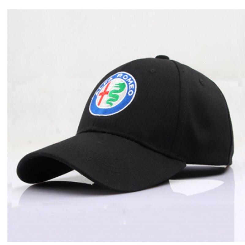 Black Baseball Cap Sports Racing Car Men's Sunglasses Moto ALFA ROMEO Car Motocross Hats Cap Racing