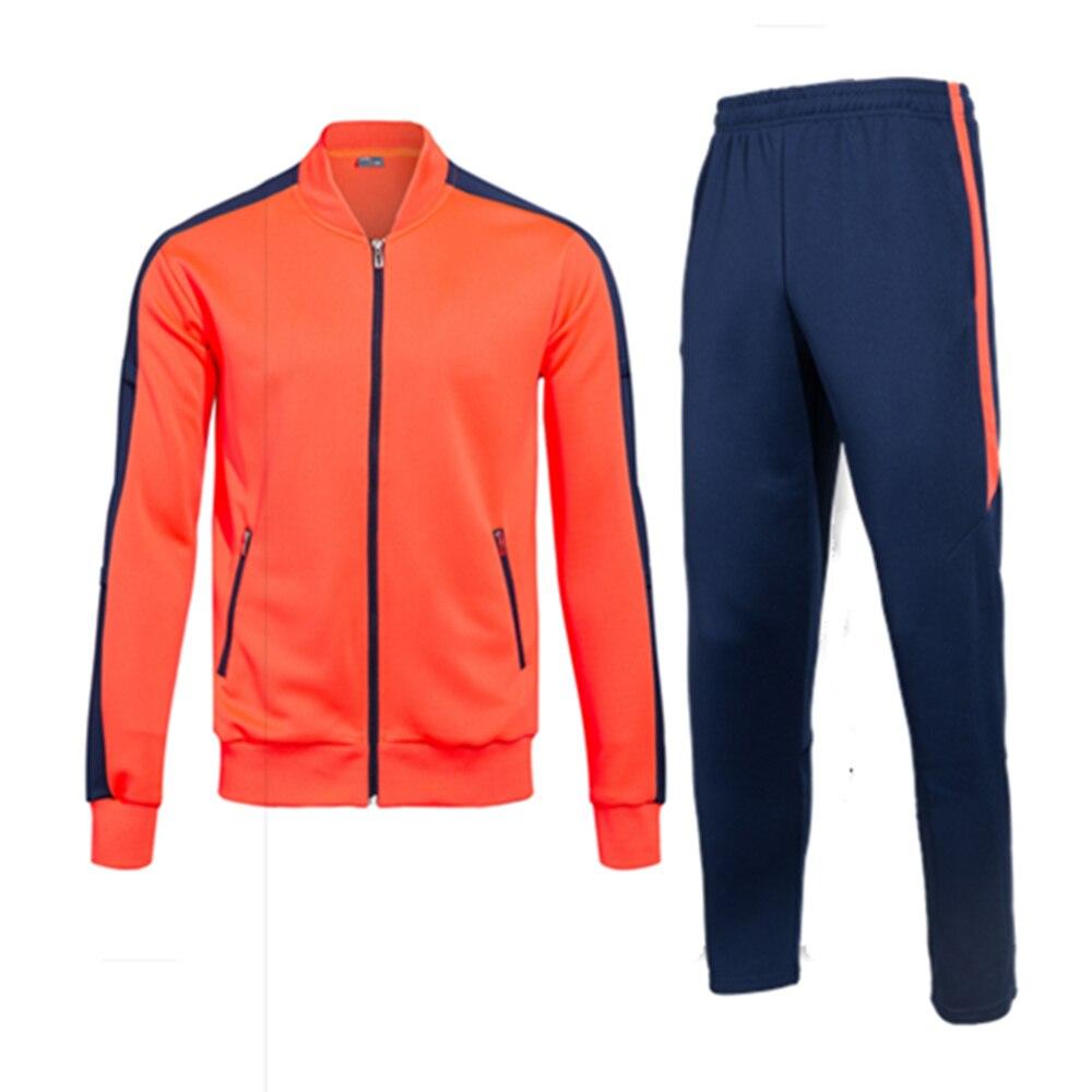Outono inverno agasalho masculino jaquetas de futebol calças manga longa terno de treinamento de futebol casaco correndo camisola calças uniforme da equipe