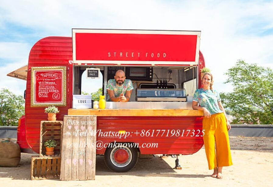 Camión de comida de la calle/camión Combi de comida/camión de comida remolque de cocina móvil