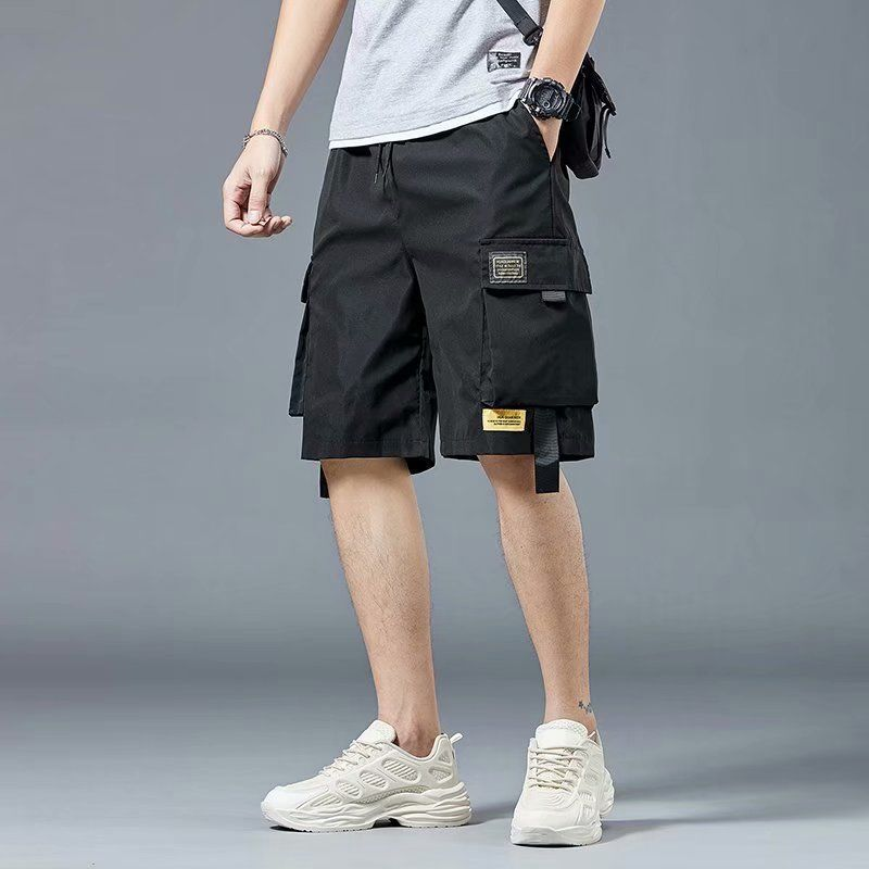AliExpress - Summer Casual Shorts Men Pockets Black Cargo Pants Shorts for Male Fashion Daily Sport Streetwear Techwear Army Beach Shorts