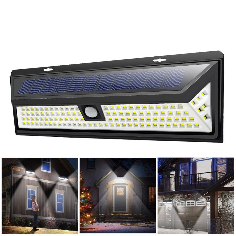 אלחוטי שמש מופעל LED שמש אור IP65 עמיד למים PIR חיישן תנועה חיצוני גדר גן אור נתיב שמש מנורת קיר