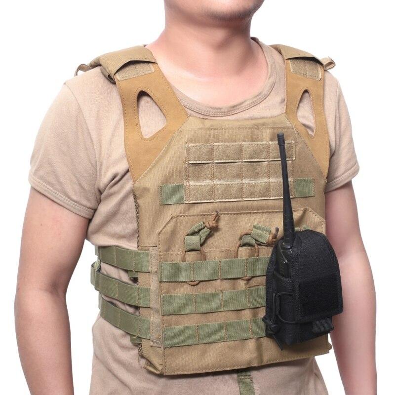 Táctica militar Molle bolsa funda Walkie Talkie titular 1000D de Nylon bolso de la correa de cintura al aire libre de caza, de deporte tiroteo bolsa