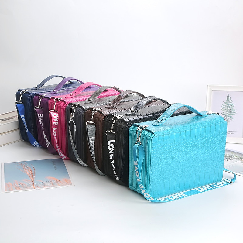 200/252 Slots Pencil Case School Pencilcase for Girls Boys Penal Large Pen Box Stationery Bag Big Cartridge Pencilhold Pouch Kit