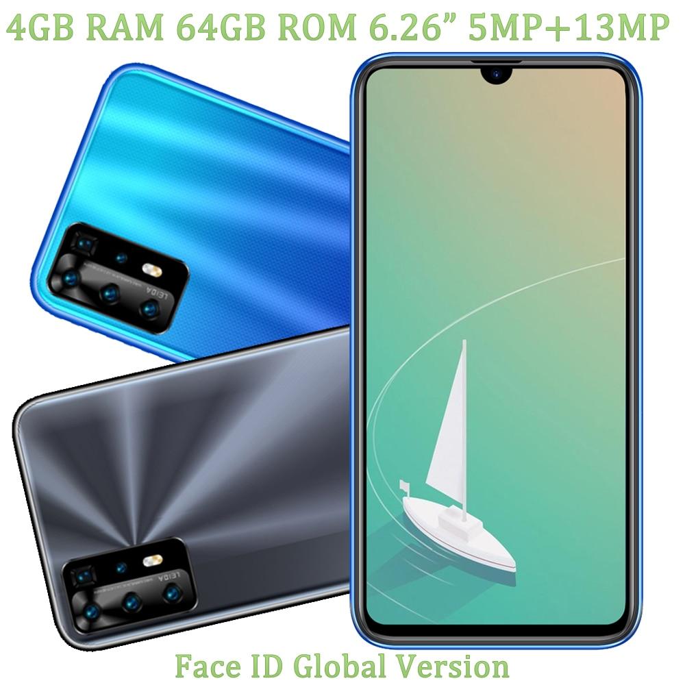 هاتف ذكي عالمي 7T أندرويد 7.0 كاميرا 5MP + 13MP أمامية/خلفية 4G RAM + 64G ROM شاشة 6.26