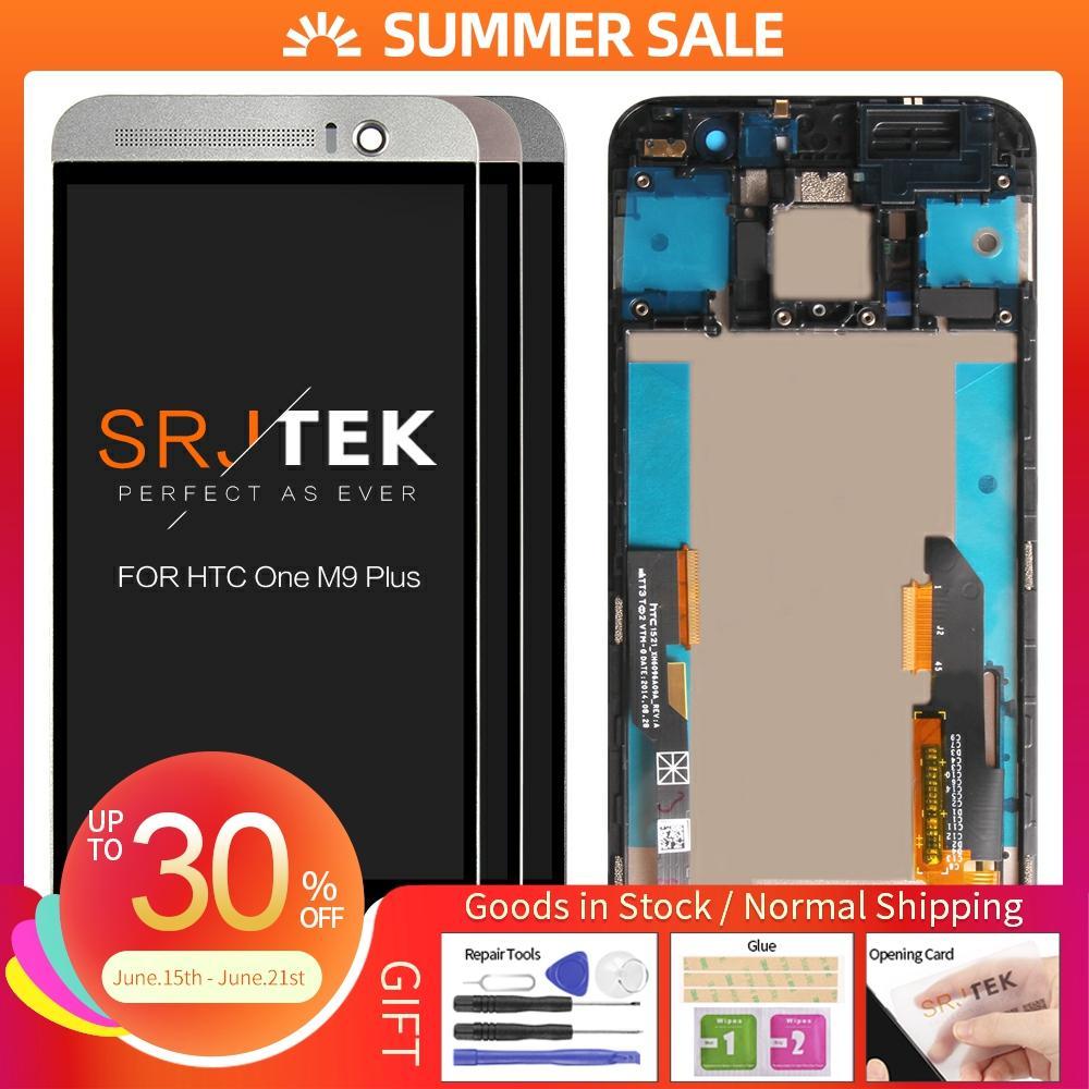 100% probado 5,2 pulgadas para HTC M9 Plus pantalla táctil LCD con marco para HTC M9 Plus pantalla digitalizador montaje reemplazo M9 + M9pw