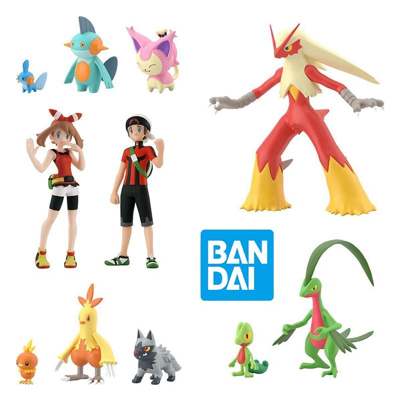bandai-pokemon-figure-swablu-garl'uso-regione-di-hoenn-2-scala-1-20-world-shokugan-action-anime-figure-model-giocattoli-per-bambini-per-ragazzi