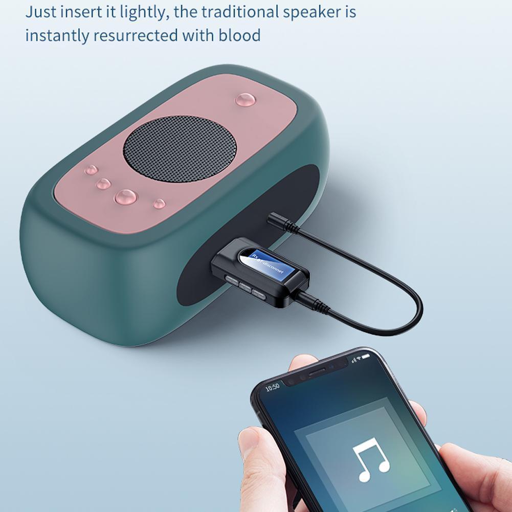 Adaptador inalámbrico con Bluetooth 5,0, pantalla LCD, USB, para PC, transmisor de...