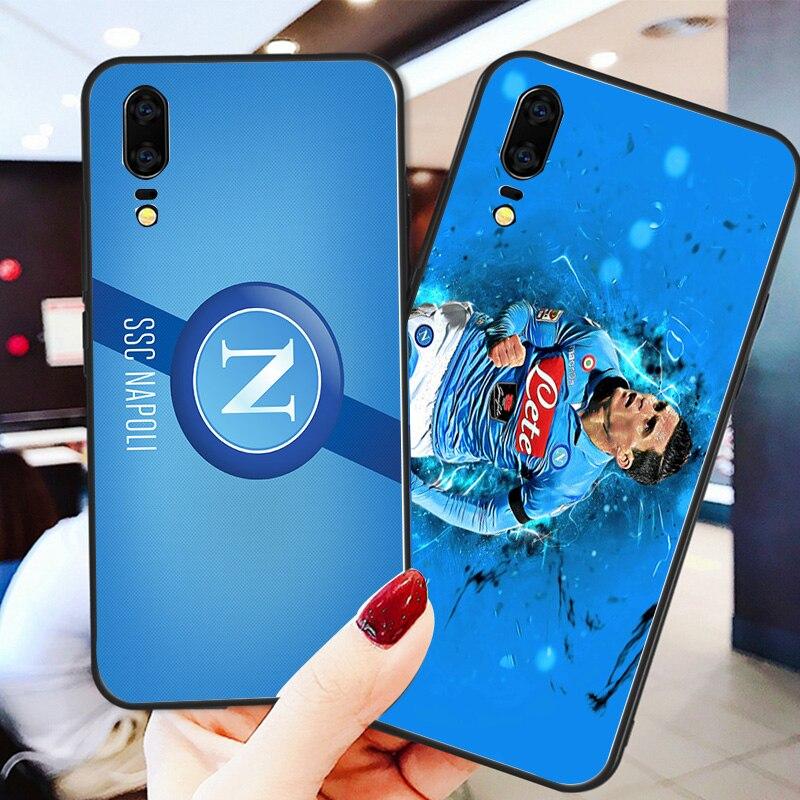 Phone Case Callejon Case For Huawei P8 Case P9 P10 P20 P30 Black Soft TPU DIY Case For Napoli FC Case Honor 9 V10 Y5 Y6 Y7 Y9
