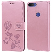 Luxury Leather Flip Book Case for Alcatel 1S 2019 5024d 1S 2020 Rose Flower Wallet Stand Case Phone