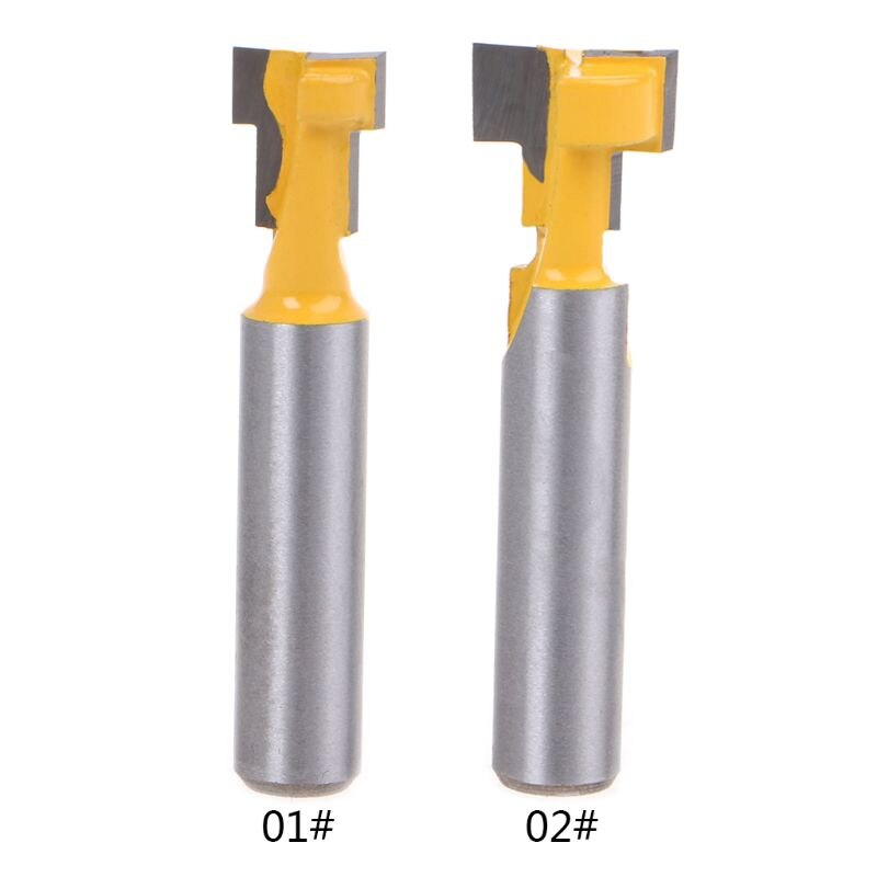 """Broca de enrutador con ranura en T de 8mm, herramienta eléctrica para carpintería con ranura en T, cortador para Hex de 1/4"""""""