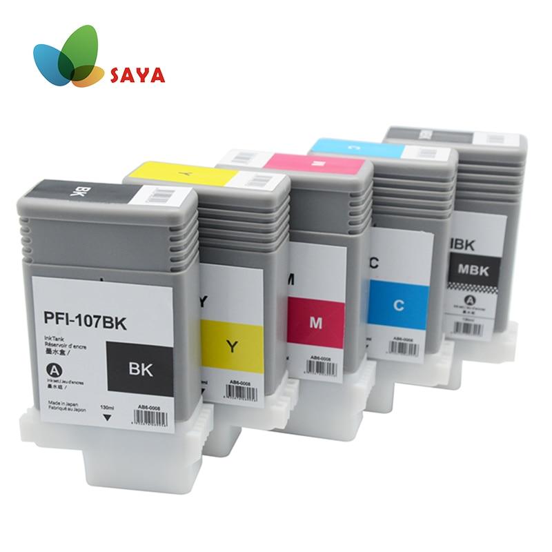 Cartucho de Tinta Compatível para Canon IPF680 PFI107 IPF685 IPF770 IPF780 IPF785 IPF670 IPF-670 IPF-770 IPF 770 670 PFI 107 PFI-107