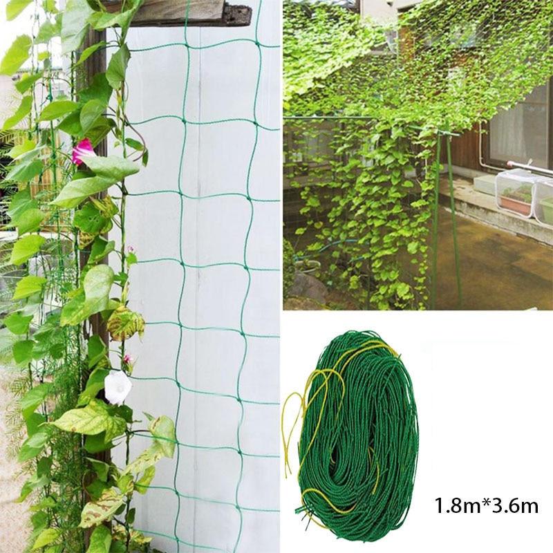 1 PCS Trellis Garden Climbing Netting Plant Support Nylon Mesh Net 1.8x3.6m Plant Support Net Nylon