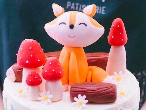 Decoración con forma de seta de zorro para pastel de boda cumpleaños, artículos de adorno para pasteles de fiesta