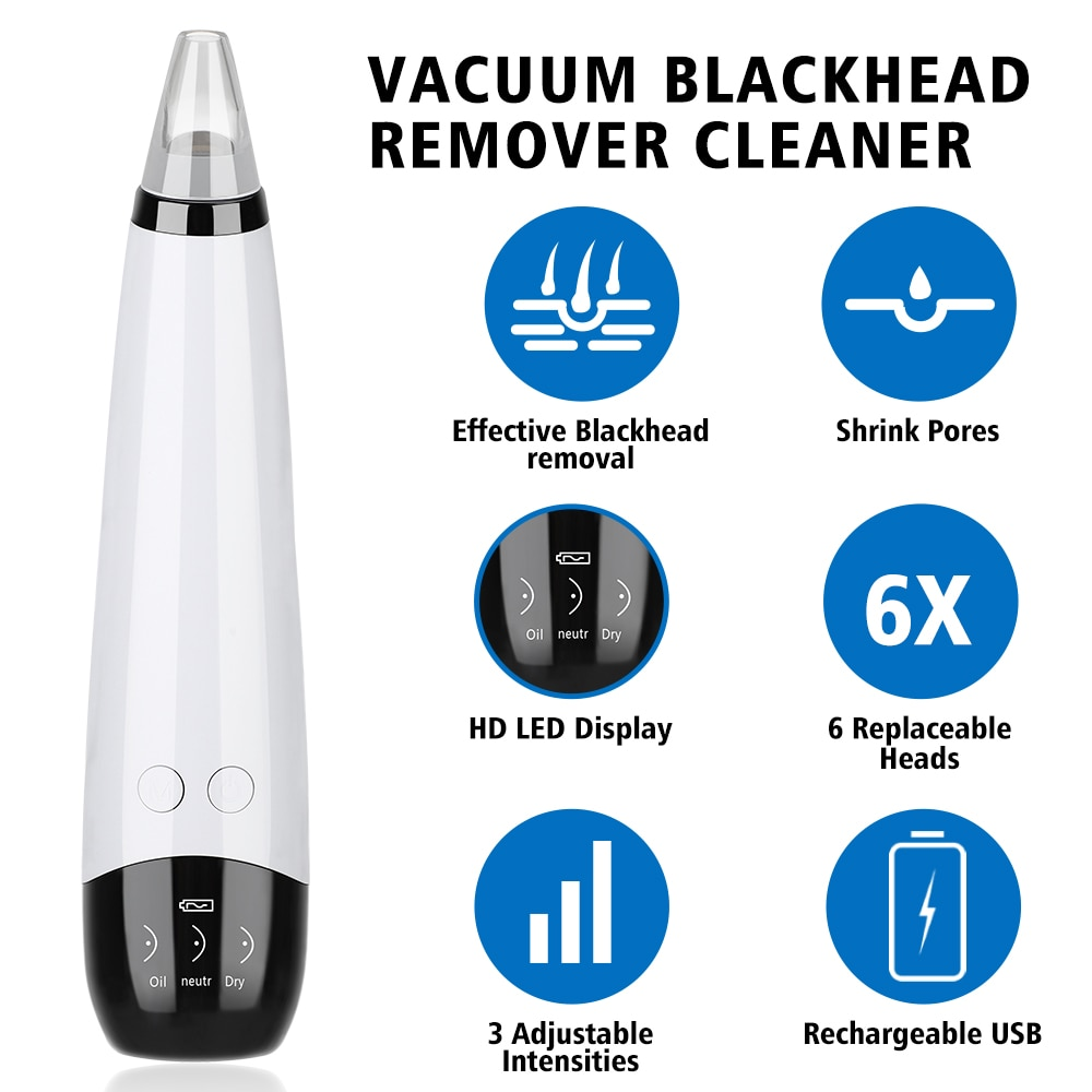 Blackhead Remover Vacuum Suction Pore Cleaner Acne Comedones Removal Black Head Remover Face Care Pimples Tools Comedone