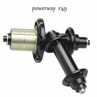 super light weight 294g taiwan road bike hub powerway r49 straight pull hub aluminum bicycle hub quick release qr