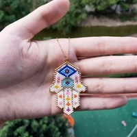 fairywoo white hand necklace bohemian jewelry gothic chains necklaces for women miyuki bead pendant collares choker dropshipping