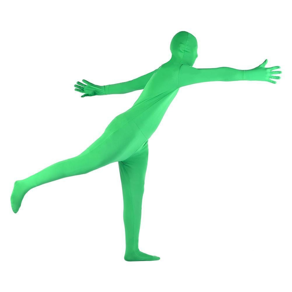 Skin Suit Photo Stretchy Body Green Screen Suit Video Accessory Photography Chroma Comfortable Effect Suit Tight Invisible C5H4