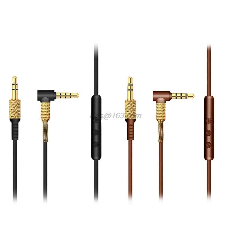 Cable de Audio de repuesto para Marshall Major II, Monitor MID, auriculares, Cable con micrófono y Control remoto de volumen