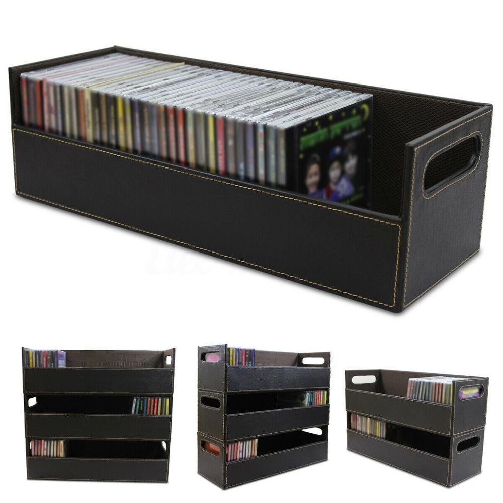 صندوق تخزين قرص مضغوط DVD ، علبة تخزين محمولة ، رف تخزين ، منظم مساحة ، حاوية أجزاء إلكترونية