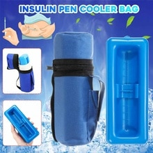 Bolsa de insulina para diabéticos para medicina portátil osmon, bolsa de nevera para pluma de insulina, bolsa de viaje, nevera para pastillas, bolsa de hielo