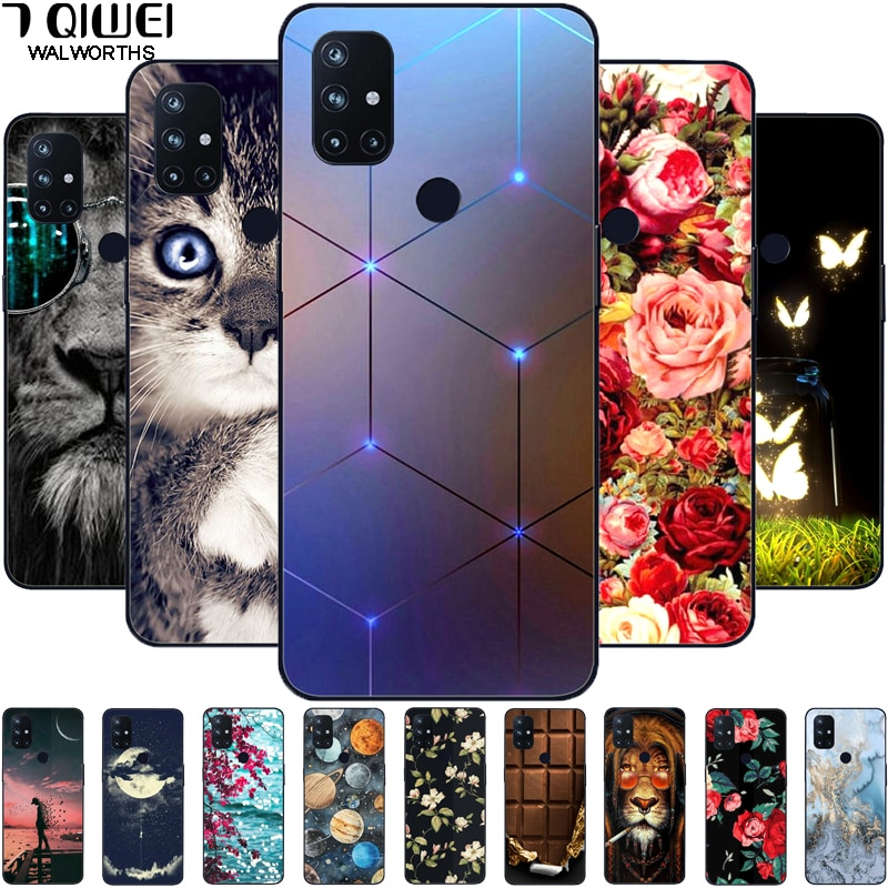 For OnePlus Nord N10 Case Phone Cover Silicone Soft Cases for One Plus Nord N10 5G Case Black TPU Co