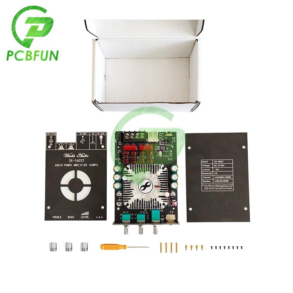 TDA7498E 2.0 قناة بلوتوث 5.0 مكبر كهربائي رقمي وحدة 160WX2 عالية وباس تعديل الصوت مكبر كهربائي مجلس