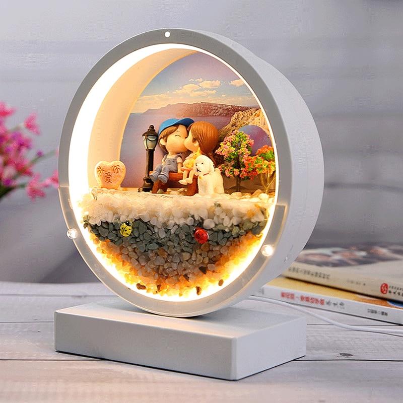 USB Immortal Flower Table Lamp Decoration Bedroom Bedside Lamp Decorative Lamp Lamps for Bedroom  Home Decor enlarge