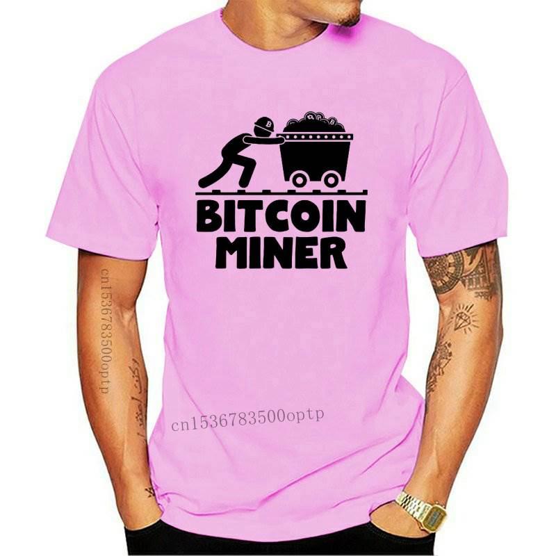 New 2021 Fashion Summer t-shirt Bitcoin Mining Shirt Bitcoin Miner Funny and Nerdy Crypto Currency BTC Bitcoi... Tee shirt