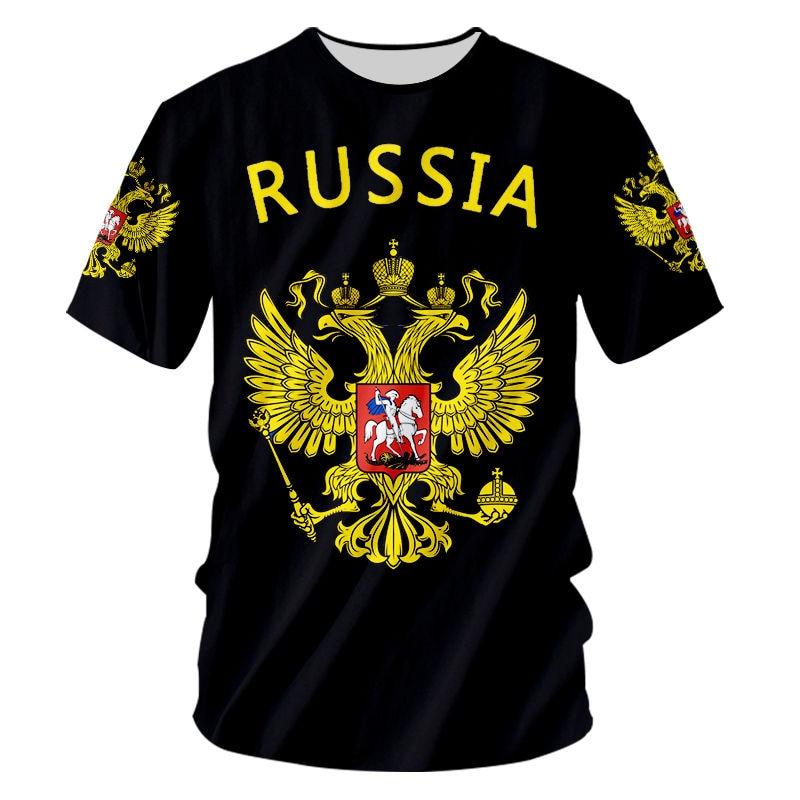 Camiseta con bandera de rusia para hombre y mujer de camiseta de...