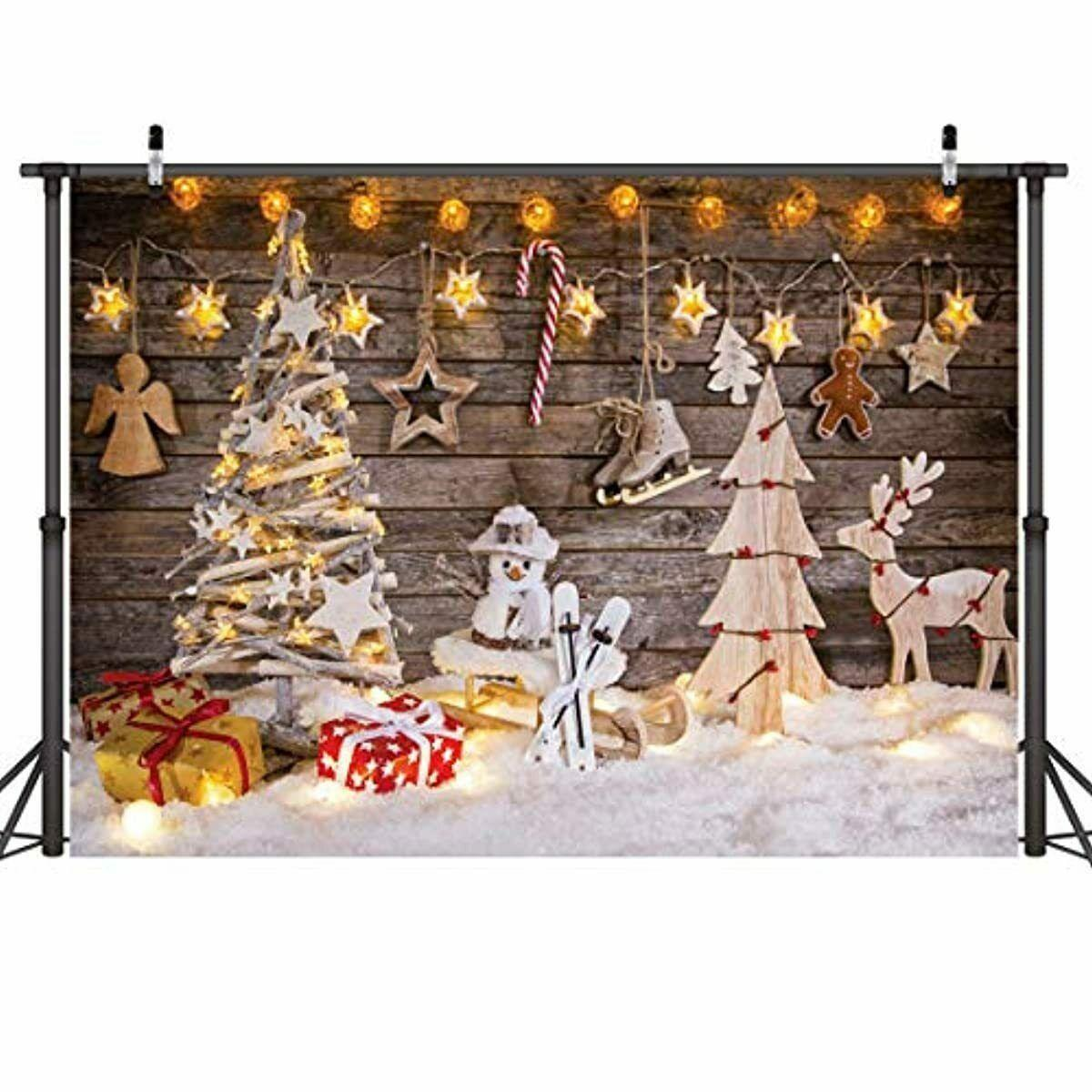 7x5FT Christmas Photography Backdrop for Children Tree Photo Background Studio Props