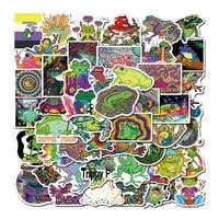50pcs lot Cartoon Psychedelic Aesthetic Frog Sticker DIY Multicolor Luggage PC Laptop Bottle Waterproof Graffiti Sticker