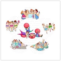 women character pattern transparent silicone rubber stamp sheet cling scrapbooking diy cute pattern photo album stamp