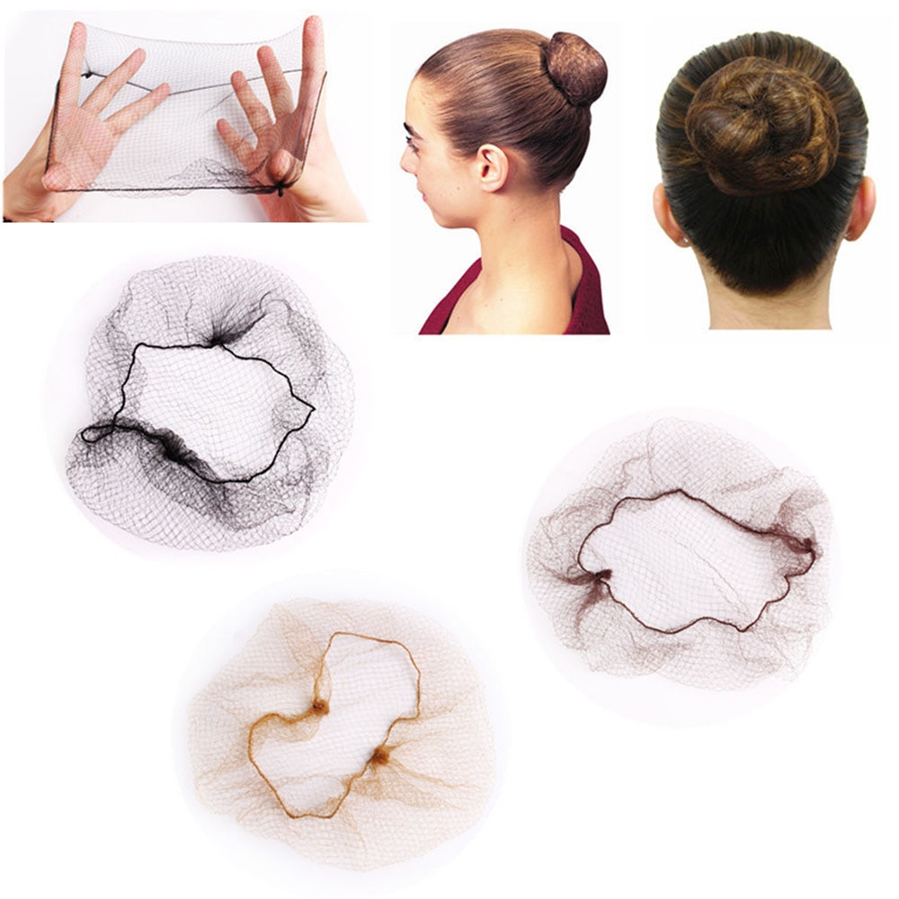 20Pcs Disposable 5mm Nylon Hairnet Hair Nets For Wigs Weave Invisible Hair Soft Lines Dancing Hairne