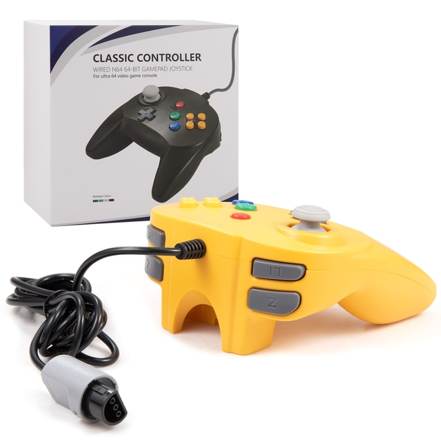 [New Version] 2 Pack for N64 Controller, Mini Game pad Joystick for N 64 Console- Plug & Play (Design from Japan) 10