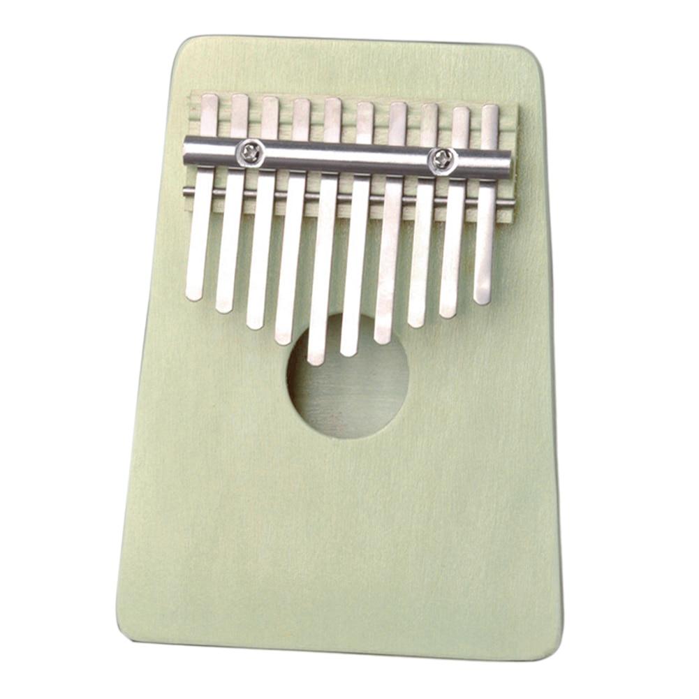 10 teclas Kalimba bombas pulgar Piano instrumento Musical de madera rezar tradicional mano regalo Mini dedo África