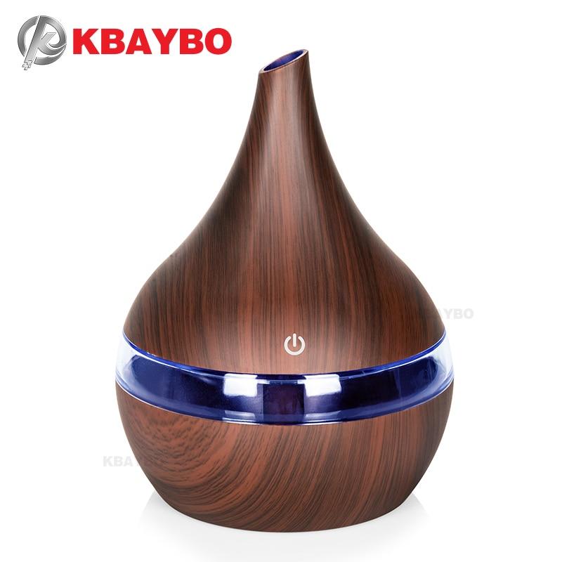 Арома-диффузор для эфирных масел, деревянный миксер, портативный usb увлажнитель воздуха, арома-диффузор 300 мл, распылитель тумана, фоггер, во...