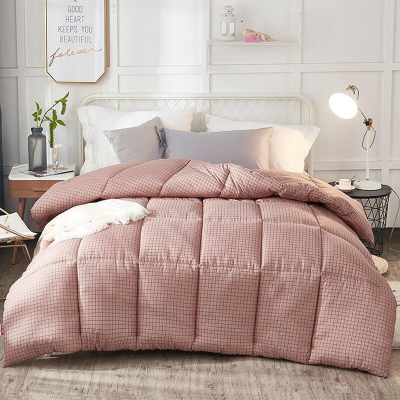 عالية الجودة الطباعة الشتاء سميكة حاف الخبز شكل 100% ريشة النسيج لحاف ناعم طقم سرير بطانية التوأم الملكة الملك الحجم